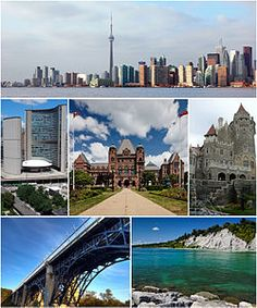 Top to bottom (left to right): (top row) Skyline of Toronto from Lake Ontario; Oh The Places You'll Go, Great Places, Places To Travel, Places To Visit, Beautiful Places, Ottawa, Quebec, Vancouver, Toronto Island