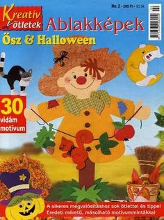 Foto: Fall Crafts, Halloween Crafts, Crafts To Make, Diy Crafts, Tree Patterns, Craft Patterns, Paper Crafts Magazine, Magazines For Kids, Tole Painting