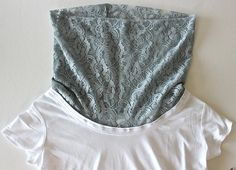 collar, Sweet Verbena: Cowl Neck Tee Refashion: a tutorial Shirt Refashion, T Shirt Diy, Sewing Alterations, Recycled T Shirts, Clothing Hacks, Sewing Clothes, Diy Fashion, Fashion Top, Clothing Patterns
