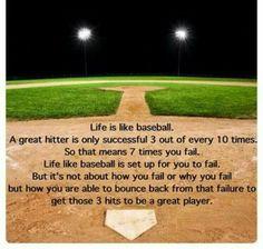 Quote: Life is like baseball . Quote: Life is like baseball . Espn Baseball, Baseball Boys, Baseball Season, Baseball Field, Baseball Dugout, Baseball Gear, Baseball Stuff, Baseball Scoreboard, Softball Stuff