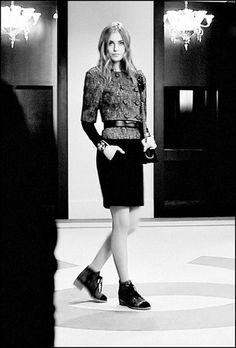 Chanel Fall-Winter 2014/5 Double Breasted Cotton&Wool Tweed Jacket Wool Tweed&Crepe Dress