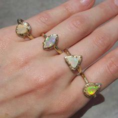 Ethiopian Opals by Gaby Marcos Atelier Gems Jewelry, Stud Earrings, Opals, Instagram Posts, Beauty, Frames, Atelier, Gemstone Jewelry, Stud Earring