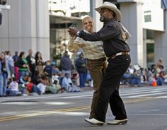 Oakland Black Cowboy Association member boot scootin at the 40th Annual parade and heritage festival Saturday at DeFremery Park, Oakland.