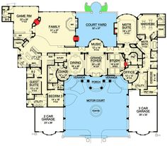 Extra Off Coupon So Cheap Plan - Palatial Estate Of Your Own. Main level From the stucco exterior and tile roof to the striking drive-up grandeur of this impressive residence you will be amazed at this architectural masterpiece. The Plan, How To Plan, Dream House Plans, House Floor Plans, Floor To Ceiling Bookshelves, Large Laundry Rooms, Stucco Exterior, French Country Bedrooms, Country Bathrooms