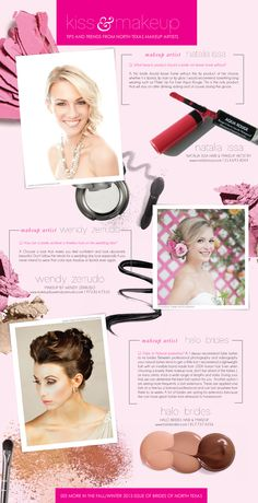 Kiss & Makeup: Tips and Trends from North Texas Markeup Artists featuring Natalia Issa, Wendy Zerrudo and Halo Brides. #wedding #beauty #makeup