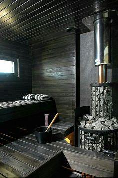 Contemporary Finnish sauna by house building company Kannustalo Saunas, Sauna Steam Room, Sauna Room, Jacuzzi, Piscina Spa, Sauna Seca, Sauna House, House Bath, Outdoor Sauna