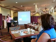 Evan McDonough speaks about credit scores at the Palm Beach Business Associates breakfast
