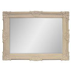 Large Mirror Renaissance Wood Frame w/ Light Finish Floral Detail Ships Free New #MartelleInternational #Traditional