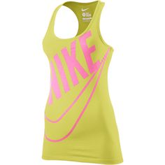 Nike Limitless Futura Women's Tank Top - Electric Yellow, L ($25) ❤ liked on Polyvore