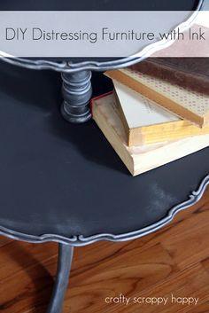 Distressing Furniture with ink! Great idea!