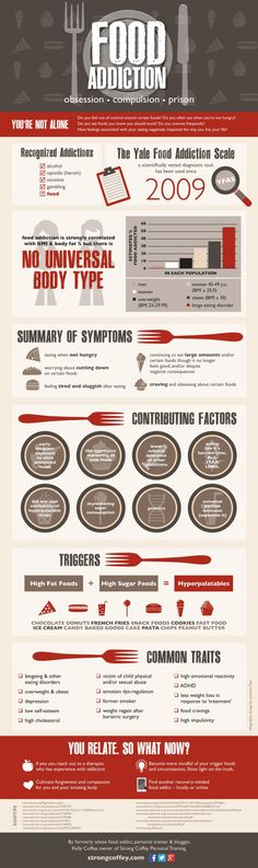 Food Addiction Infographic #addiction #foodaddicton #infographic This is so important