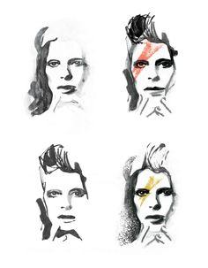 David Bowie by Caroline Tomlinson