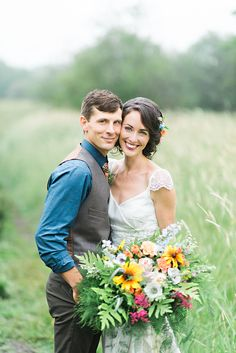 #Woodland / #bohemian inspired Bride in #whimsical field in Nova Scotia! #love #wedding #bridal #bouquet #forest #beautiful #flowers #flowercrown #cute #couple