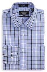 Nordstrom Trim Fit Non-Iron Plaid Dress Shirt (Online Only)
