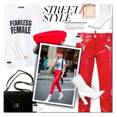 """""""Street Style: 2018 Paris"""" by nkara ❤ liked on Polyvore featuring Dsquared2, MANGO, Manokhi, Chanel, Stuart Weitzman, Grace Lee Designs, Chloé and StreetStyle"""