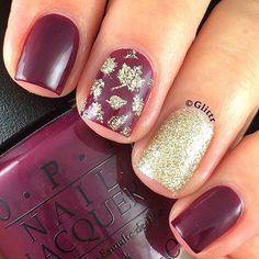 """11. Light Brown Nails + Turkey Turn a simple, nude manicure into a festive one, by painting a turkey and feathers on youraccent nail.To make the designa bitfancier, adorn it with a coat of micro-glitter polish. It will give your manicurea subtle shimmer. The glitter top coat is SinfulColors """"24 Karat"""". 12. Fall Waterfall Nails …"""