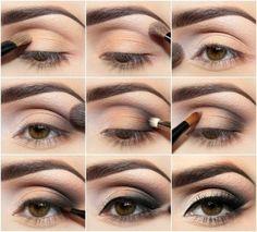 Легкий макияж для карих глаз