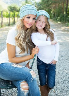 boutique, hat, matching, mommy and me, online shopping, Online boutique, fashion, beanie, knit beanie, slouchy beanie, ryleigh rue
