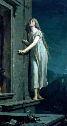 The Sleepwalker by Maximilian Pirner - looks like a scene from the Twelve Brothers