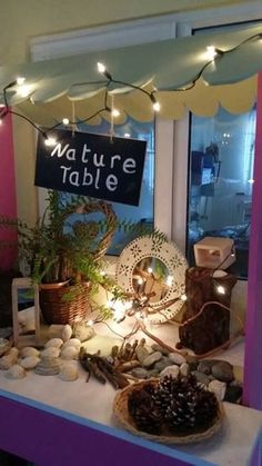 A great way to make a science area visually pleasing or to effectively place natural materials for the children to use. Looks very inviting and interesting! Reggio Emilia, Reggio Classroom, Classroom Decor, Classroom Layout, Classroom Design, Nature Activities, Science Activities, Steam Activities, Learning Centers