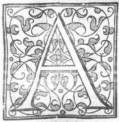 An old and beautiful capital A. Found in an old book.