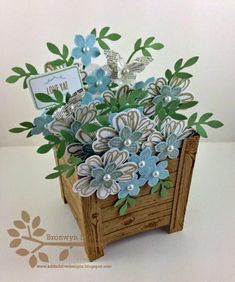 Planter Box Card by BronJ - Cards and Paper Crafts at Splitcoaststampers