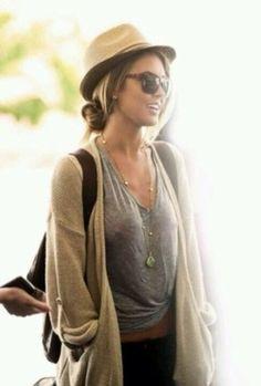 coat boho bohemian style fashion relaxed cardigan oversized cardigan t-shirt clothes outfits sunglasses hat