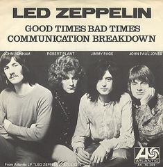 jimmy-pages-dragon-suit:  Led Zeppelin singles, 1969.