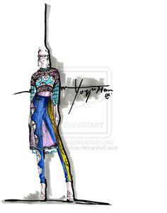 textile Inspired fashion design project Yoyo Han by yoyo-han.deviantart.com on @deviantART