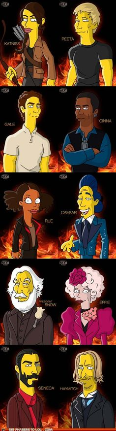 The Hunger Games Characters as Simpsons.
