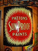 Curved Patton's Sun Proof Paint's.