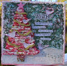 10 x 10 Rolled Tree Canvas for a class taught at Right at Home Scrapbooking