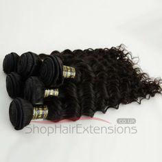 10 Inch - 30 Inch Natural Black (#1B) Deep Curly 4pcs/lot Mix Length Unprocessed Virgin Brazilian Remy Hair Bundles 400g