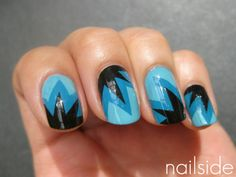 These would be fun to try as matte  Nailside: Blue explosion