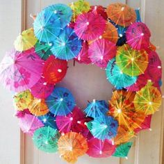 Beat the winter blues with an explosion of summer's blissful colours :) cool wreath