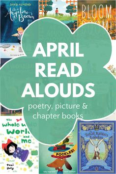 The best children's books for April! Read alouds for all ages, including poetry, picture books, chapter books that the whole family will enjoy. Story Books For Toddlers, Best Children Books, Toddler Books, Stories For Kids, Read Aloud Books, Children's Books, Good Books, Book Activities, Spring Activities
