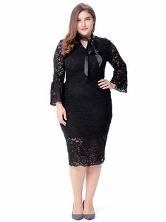SHARE & Get it FREE | Plus Size Pussy Bow Lace DressFor Fashion Lovers only:80,000+ Items • New Arrivals Daily • Affordable Casual to Chic for Every Occasion Join Sammydress: Get YOUR $50 NOW!
