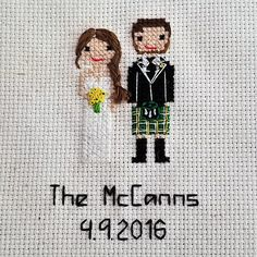 Hand stitched CUSTOM family portraits designed to look just like you, and your Loved ones! These portraits make a perfect gift for any occasion, including (2nd) cotton anniversaries, mothers day, fathers day, housewarmings, holidays, new babies, graduations, weddings, and engagements. Or