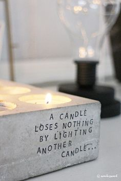 """""""It doesn`t take a lot to make your interior a little bit more exciting and unique. This weekend I`ve upcycled both candle holders, fabrics and old photo frames, using my letter stamps."""""""