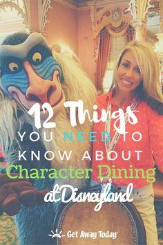Character Dining at Disneyland