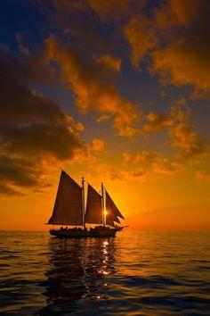 Fantastical boat at #sunset