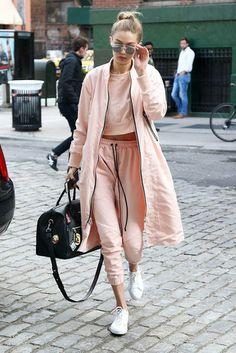 Gigi Hadid, pink candy sporty