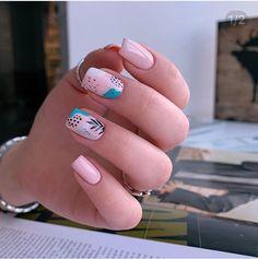 Nail Designs nail designs for fall nail designs for summer g Dream Nails, Love Nails, Pretty Nails, My Nails, Nail Art Cute, Cute Acrylic Nails, Multicolored Nails, Summer Gel Nails, Elegant Nail Art