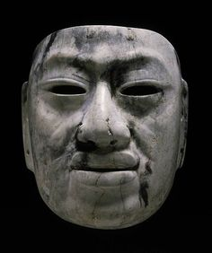 """ancientpeoples: """" Jadeite mask Olmec culture (Veracruz, Mexico), Middle Formative period, B. 22 cm ½ in.) high """"This is one of the finest Olmec masks in a public collection. The naturalistic features of this masterpiece recall monumental. Ancient Art, Ancient History, Art History, Black History, Masks Art, Clay Masks, Museum Of Fine Arts, Ancient Civilizations, Tribal Art"""