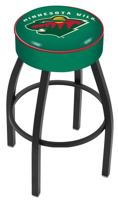 """Use this Exclusive coupon code: PINFIVE to receive an additional 5% off the Minnesota Wild 4"""" Seat Bar Stool at SportsFansPlus.com"""