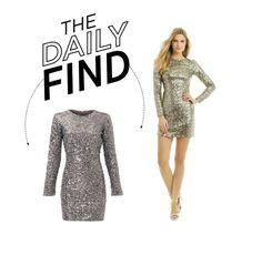 """""""Daily Find: Slate & Willow Silver Dress"""" by polyvore-editorial ❤ liked on Polyvore featuring Slate & Willow and DailyFind"""