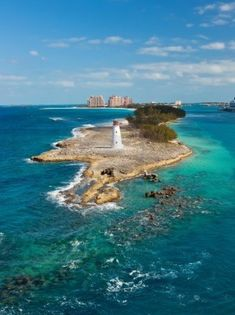 Nassau, Bahamas..been there the island didnt look that small lol
