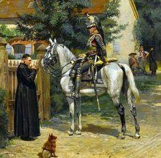 Cuiraisser at the Abby (Edouard Detaille)