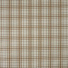 Vintage, Double Knit Fabric, Light Brown and White, Plaid, Medium Weight Polyester, 1 yard, 1.1-lb B31 by DartingDogFabric on Etsy
