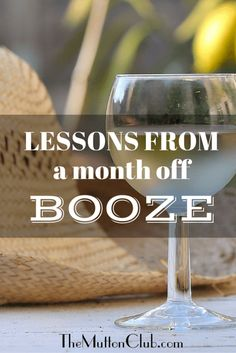 Lessons from a month off booze - The Mutton Club